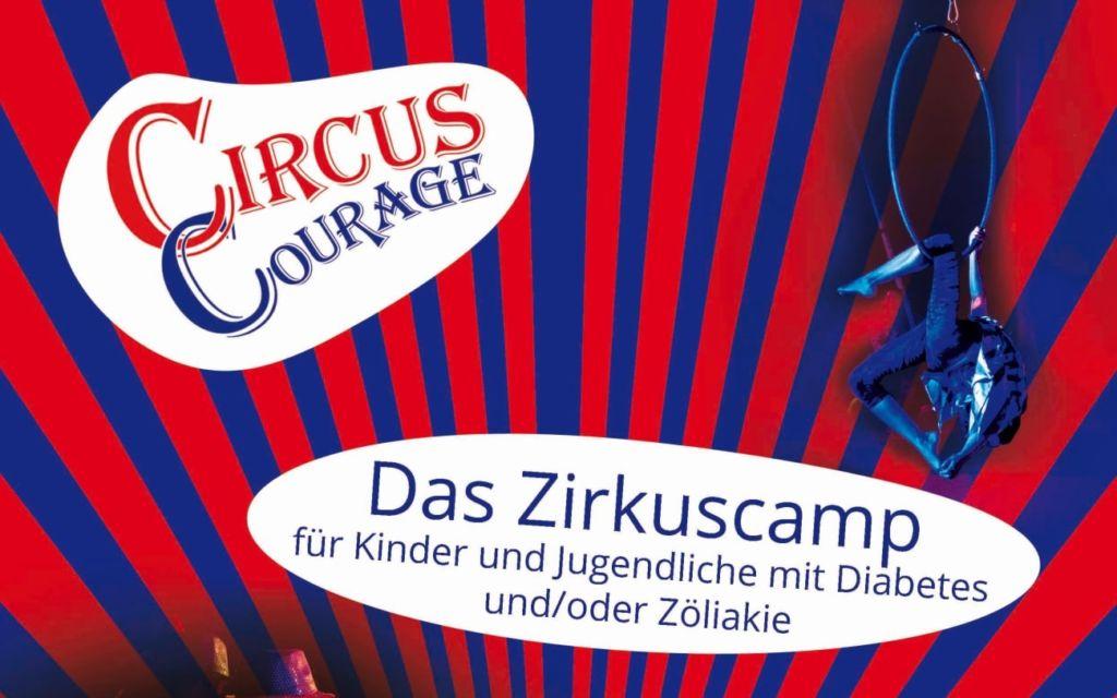 Flyer vom Circus Courage, dem Zirkuscamp für Kinder und Jugendliche mit Diabetes und oder Zöliakie